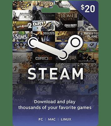 Steam Gift Card 20 $
